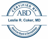 Dr. Leslie R. Coker, MD ABD Certification