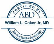 William L. Coker MD ABD Certification