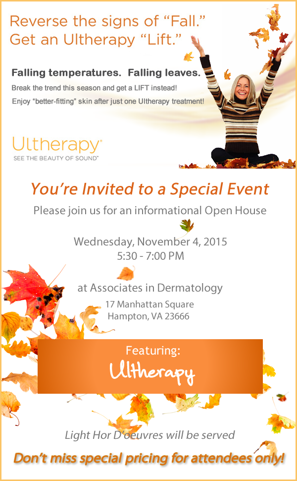 Reverse the Signs of Fall with Ultherapy Event