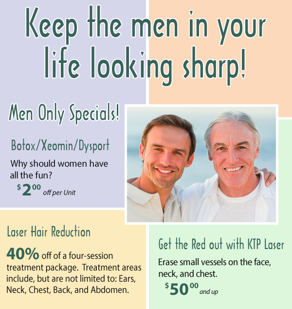 June Men's Skin Care Specials