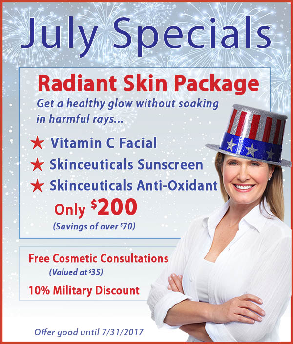 Radiant Skin with July Specials