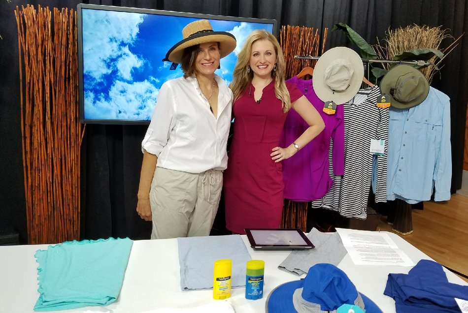 Dr Leslie Coker on Coast Live talking about Sun Protective Clothing