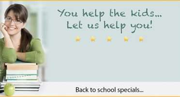 Back to Schools Specials for September