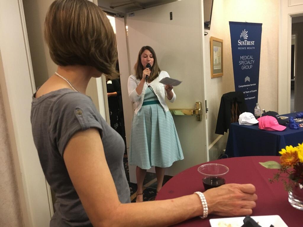 Dr. Leslie Coker attending reception for 2017 Top Docs Awards