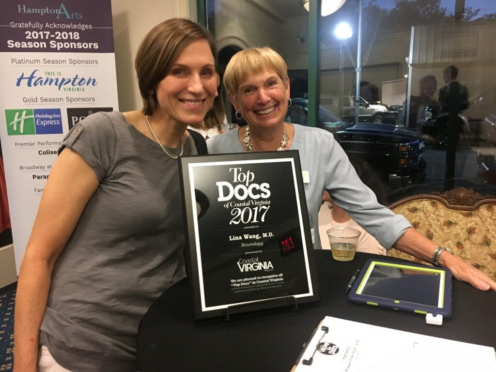 Dr. Leslie Coker Accepting 2017 Top Docs Award