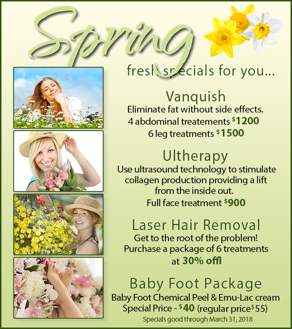 Fresh Spring Specials for You!