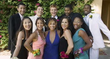Smiling Teenagers Dressed for Prom Night Photos